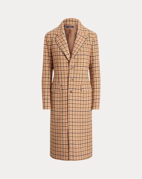 Manteau à chevrons laine mélangée