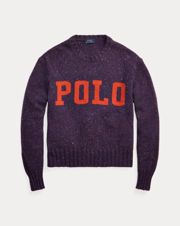 Logo-Pullover aus Wollmischung