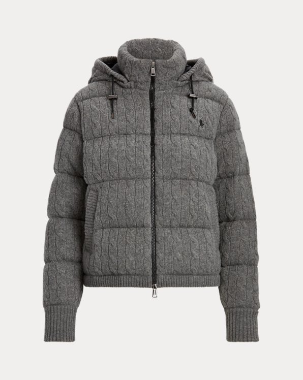 Cable-Knit Down-Filled Jacket