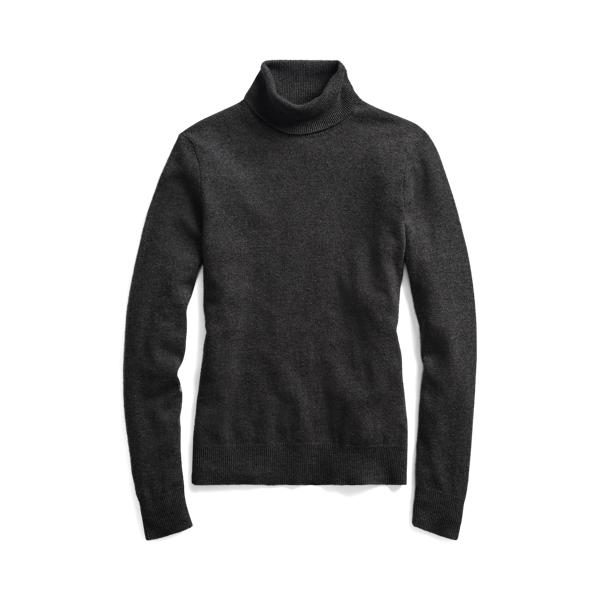 폴로 랄프로렌 우먼 캐시미어 터틀넥 스웨터 (슬림핏) Polo Ralph Lauren Slim Fit Cashmere Turtleneck Sweater,Stadium Grey Hthr