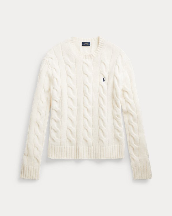 Cable-Knit Crewneck Jumper