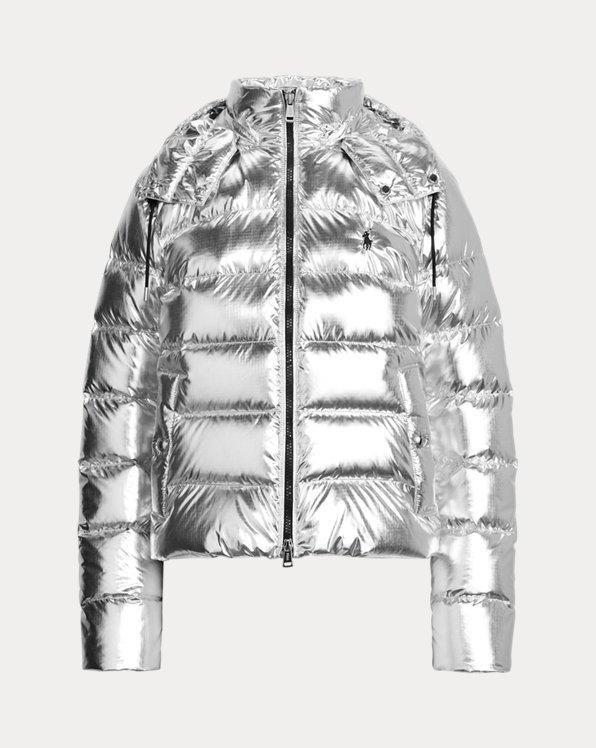 Metallic-Jacke mit Daunenfüllung