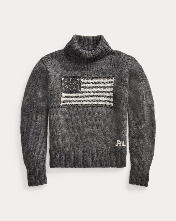 Flag Roll Neck Jumper