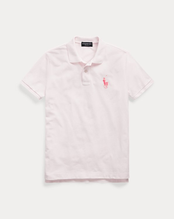 Pink Pony Cotton Mesh Polo Shirt
