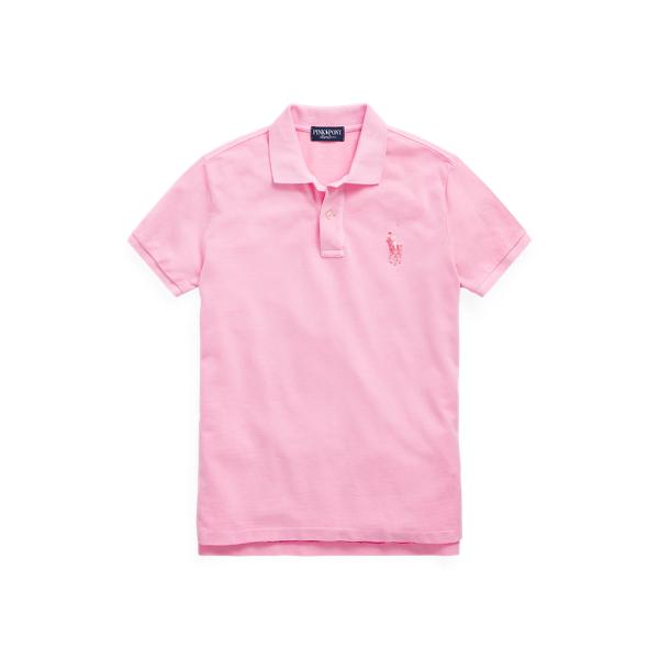 폴로 랄프로렌 Polo Ralph Lauren Pink Pony Cotton Mesh Polo Shirt,Pink Flamingo