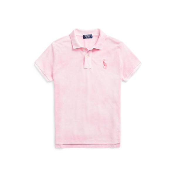 폴로 랄프로렌 Polo Ralph Lauren Pink Pony Tie Dye Cotton Polo Shirt,Space Dye