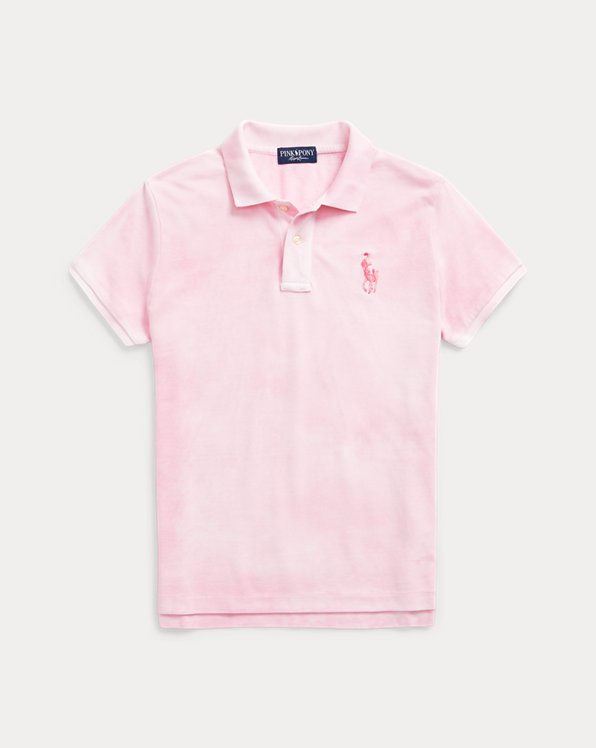 Pink Pony Tie-Dye Cotton Polo Shirt