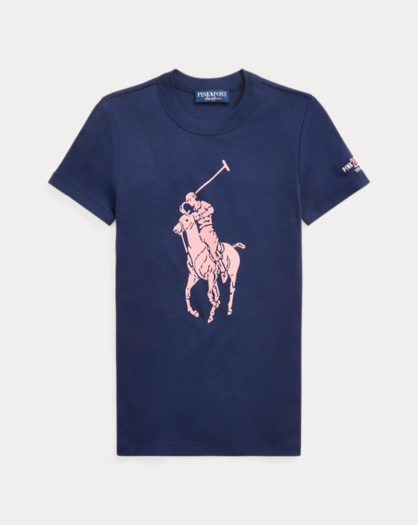 Slim-Fit T-Shirt mit Pink Pony