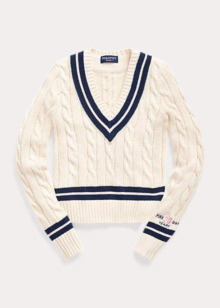 Polo Ralph Lauren Pink Pony Cotton Cricket Sweater