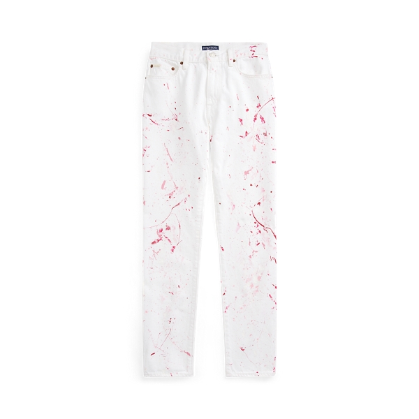 폴로 랄프로렌 핑크포니 데님진 Polo Ralph Lauren Pink Pony Avery Boyfriend Jean,White W Pink Paint