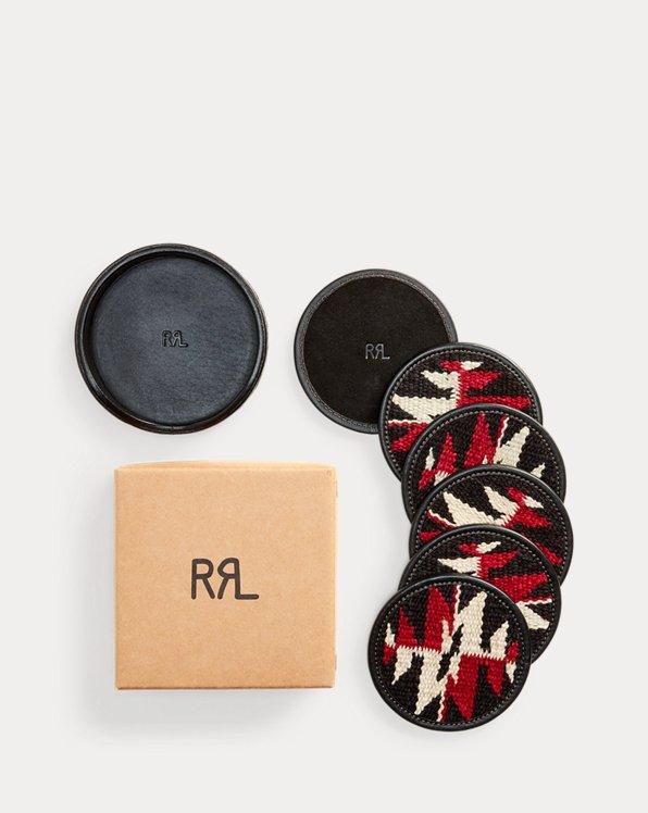 Conjunto de posavasos tejido a mano