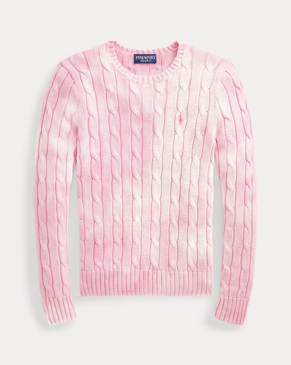 Pink Pony Cable-Knit Cotton Jumper