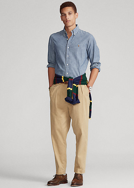 Polo Ralph Lauren Pleated Baggy Fit Chino Pant