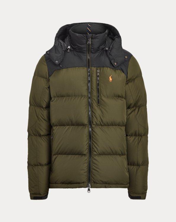 Colour-Blocked Down Jacket