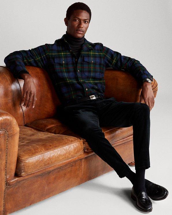 Classic Fit Plaid Wool Twill Workshirt
