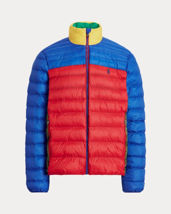 Colour-Blocked Packable Jacket