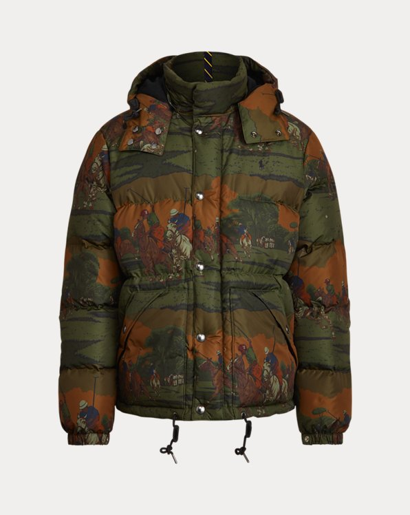 Match-Print Down Coat