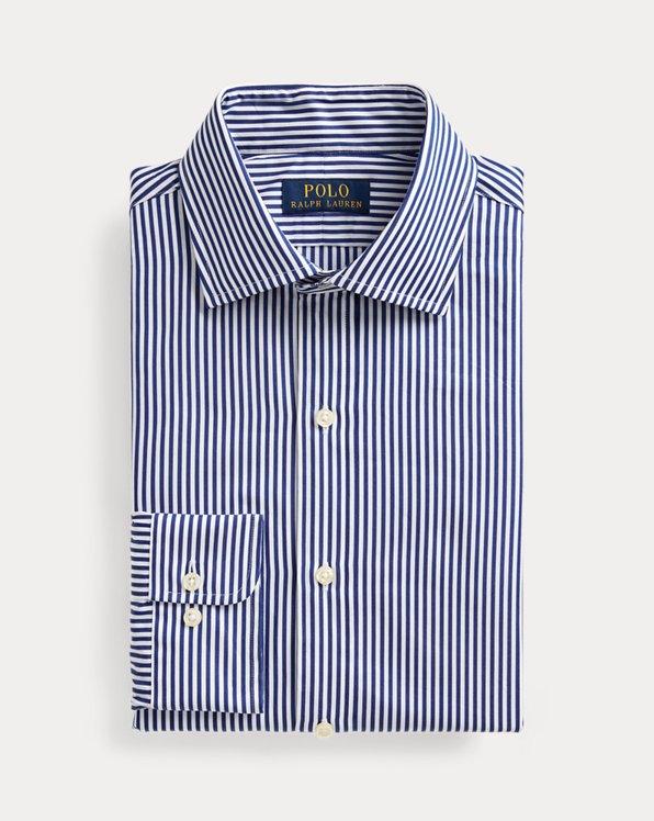폴로 랄프로렌 셔츠 (슬림핏) Polo Ralph Lauren Regent Slim Fit Striped Poplin Shirt,Royal Blue/White