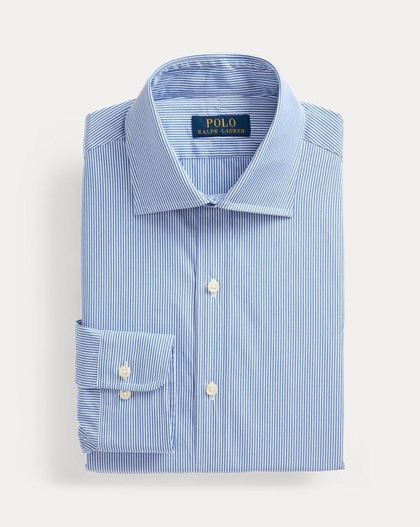 폴로 랄프로렌 셔츠 (슬림핏) Polo Ralph Lauren Regent Slim Fit Striped Poplin Shirt,Carolina Blue/White