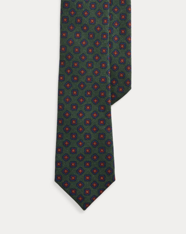 Wool Challis Narrow Tie