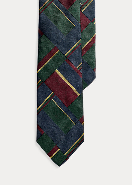 Polo Ralph Lauren Regimental Patchwork Silk Tie