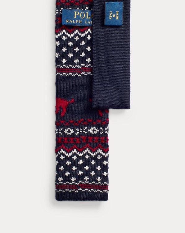 Reindeer Knit Wool Tie