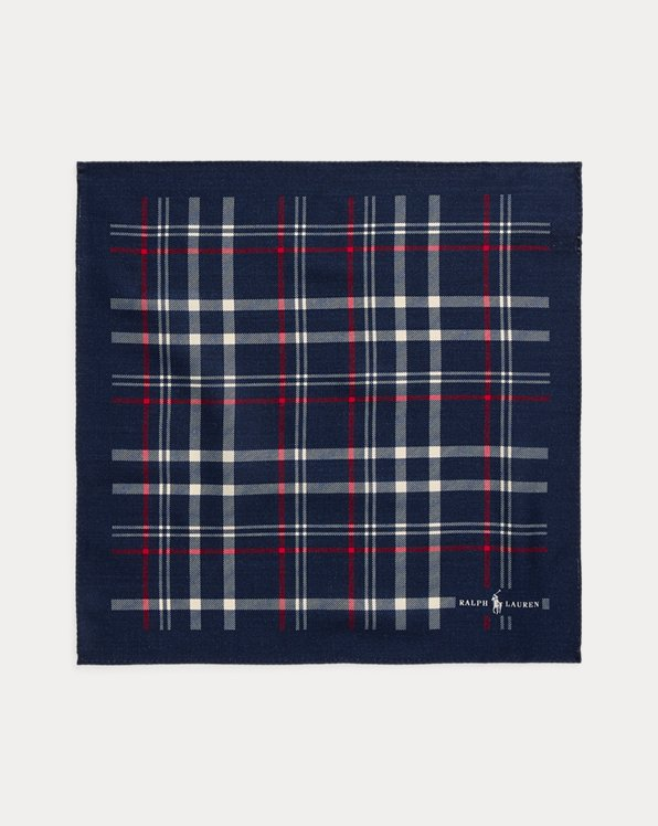Plaid Wool Pocket Square