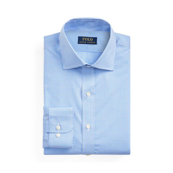 폴로 랄프로렌 셔츠 Polo Ralph Lauren Regent Custom Gingham Shirt,Mini Blue/White