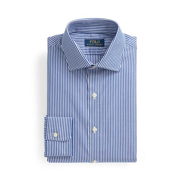 폴로 랄프로렌 셔츠 (슬림핏) Polo Ralph Lauren Regent Slim Fit Striped Poplin Shirt,Royal/White