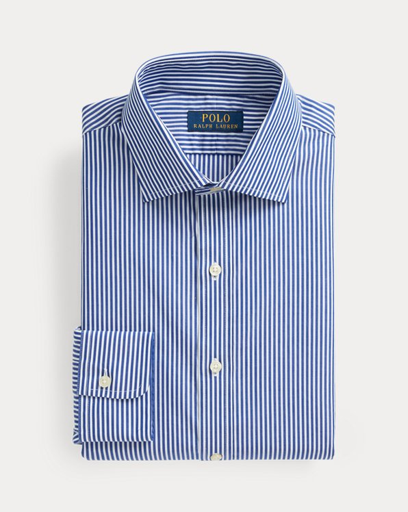 Regent Slim Fit Striped Poplin Shirt