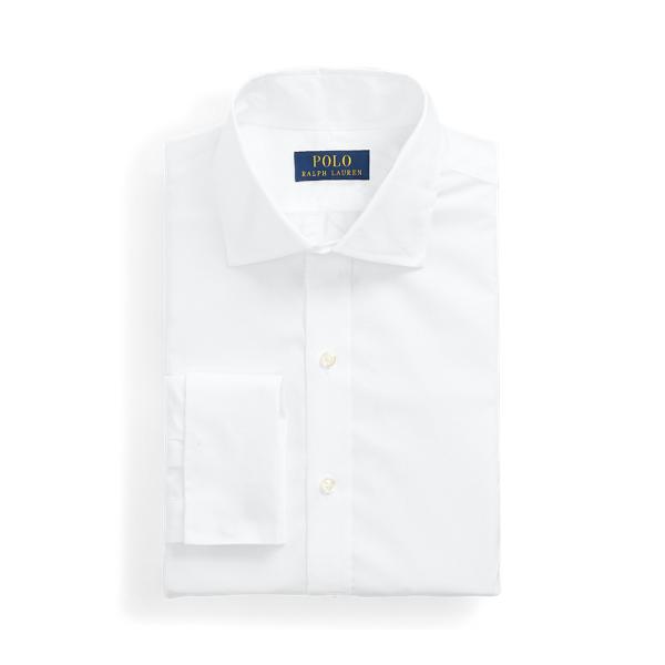 폴로 랄프로렌 셔츠 Polo Ralph Lauren Regent Slim Fit Poplin French-Cuff Shirt,White