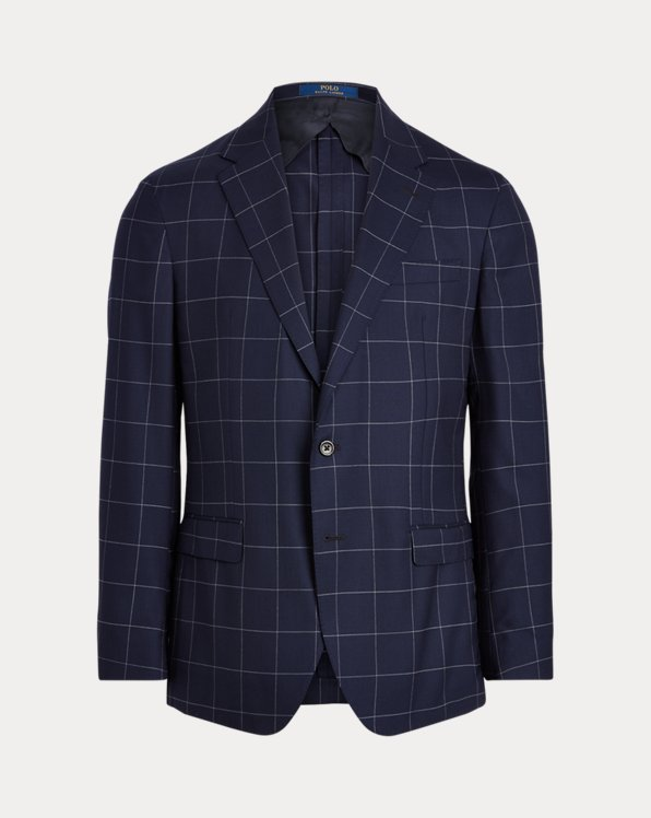 Polo Checked Stretch Suit Jacket
