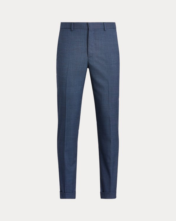 Glen Plaid Wool Suit Trouser