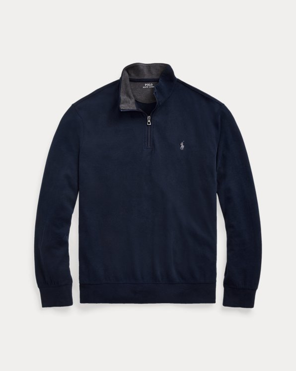 Luxury Jersey Quarter-Zip Pullover