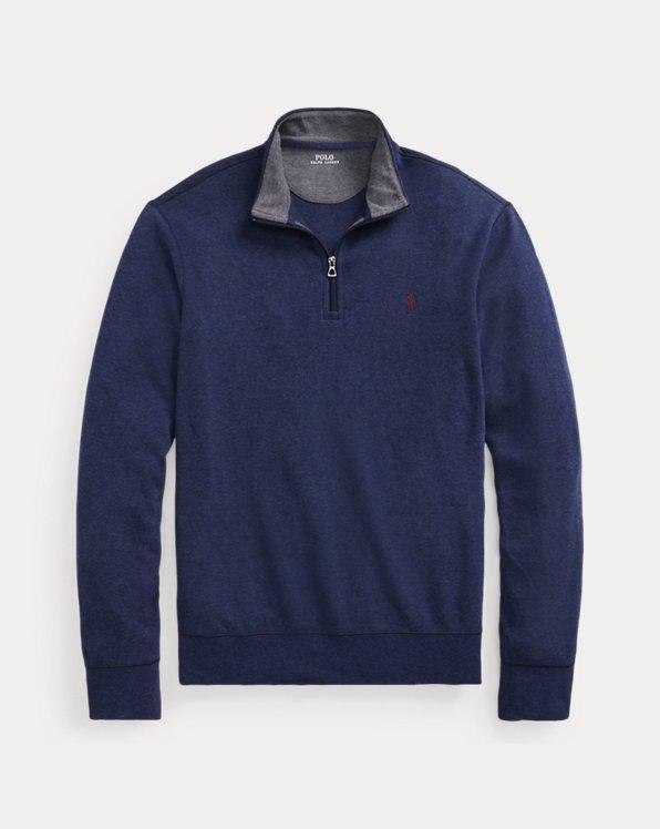 Pull demi-zippé en jersey luxueux