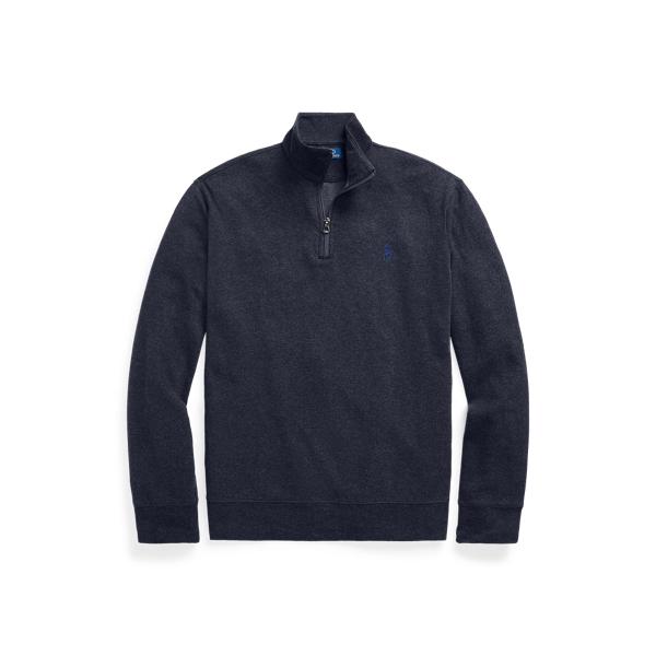 폴로 랄프로렌 맨 해링본 쿼터집 풀오버 Polo Ralph Lauren Herringbone Jersey Quarter Zip Pullover,Winter Navy Hthr Hrngbne