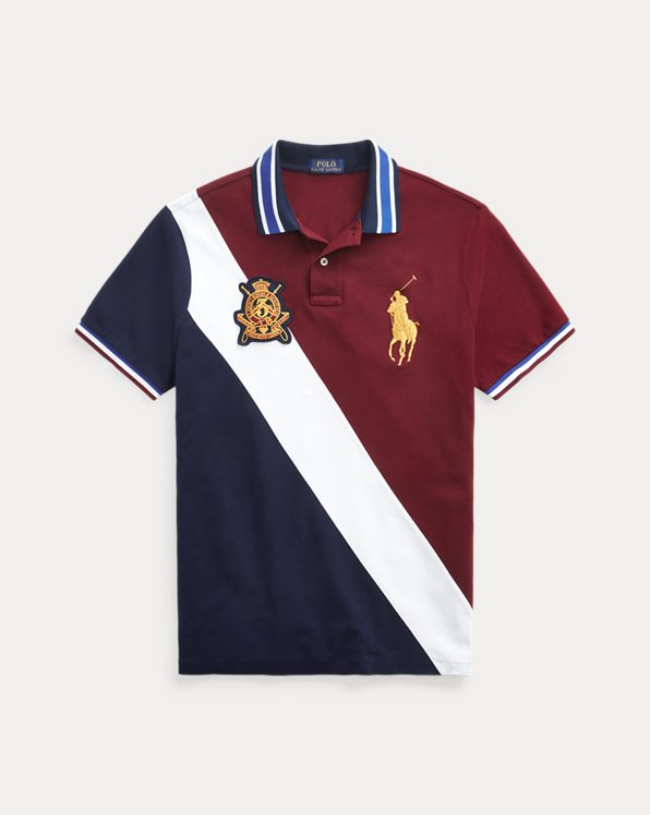 Custom Slim Crest Mesh Polo
