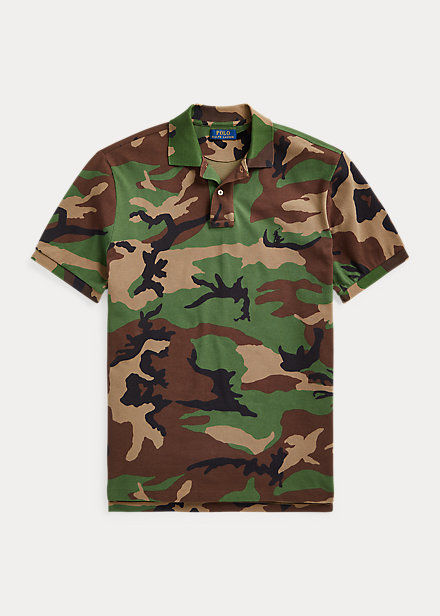 Polo Ralph Lauren Classic Fit Camo Mesh Polo Shirt