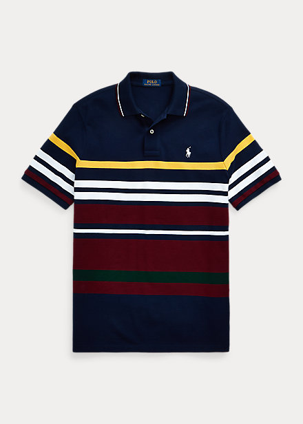Polo Ralph Lauren Classic Fit Striped Mesh Polo Shirt
