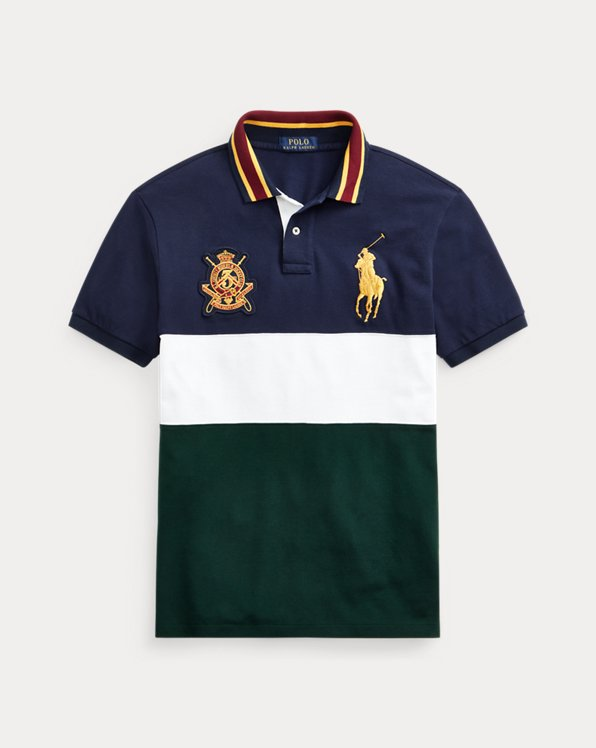 Polo Custom Slim Fit con Big Pony