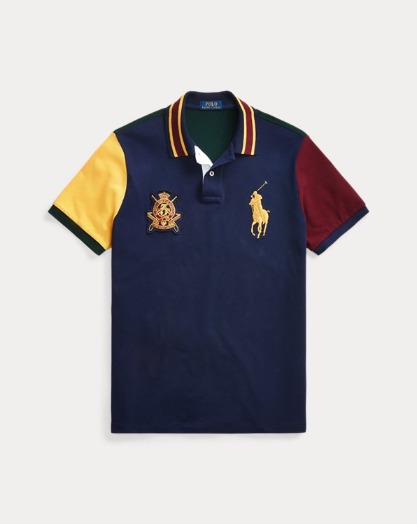 Polo de piqué Custom Slim Fit con escudo