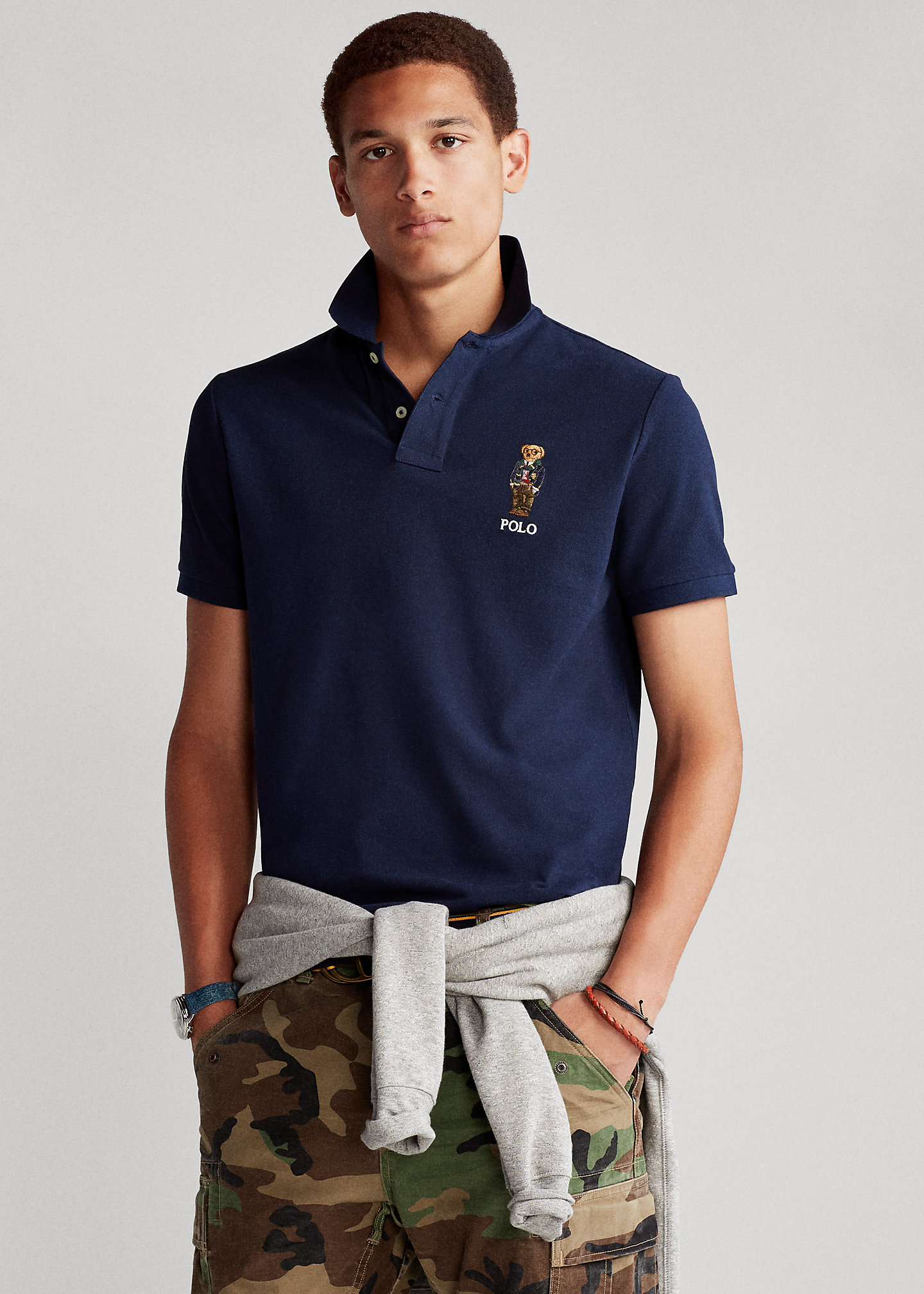 Custom Slim Fit Polo Bear Polo Shirt