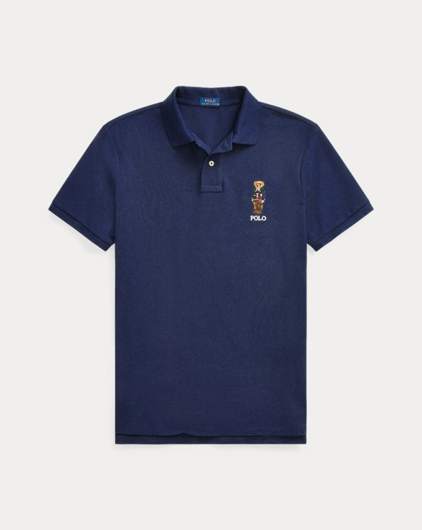 Custom Slim Preppy Bear Polo