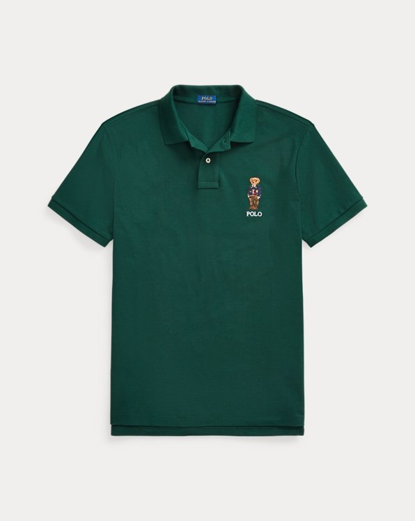 Custom Slim Fit Polo Bear Mesh Polo
