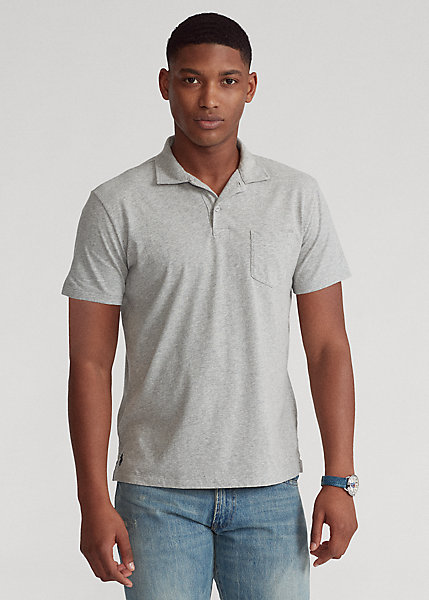 Polo Ralph Lauren Custom Slim Fit Sueded Jersey Polo Shirt