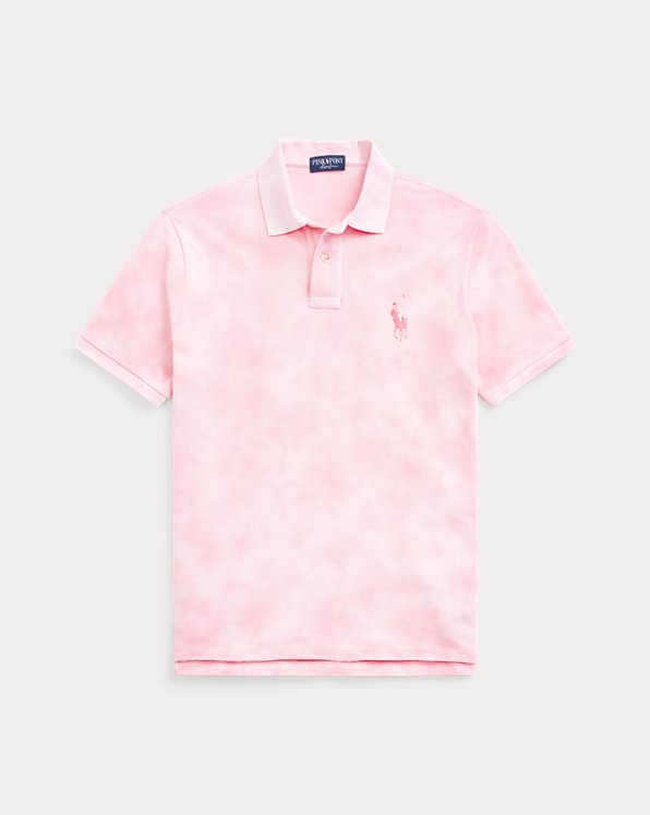 Pink Pony Custom Slim Tie-Dye Polo Shirt