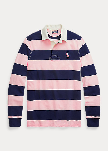 Polo Ralph Lauren Pink Pony Custom Slim Fit Rugby Shirt