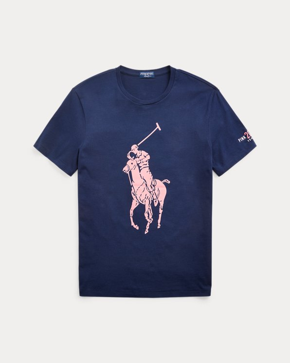 Pink Pony Custom Slim Fit Jersey T-Shirt