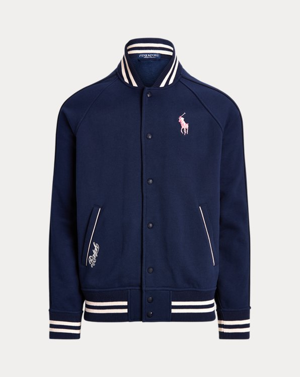 Pink Pony Fleece Baseball Jacket