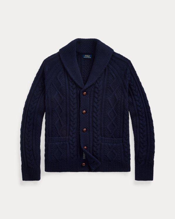 Aran Wool-Cashmere Cardigan